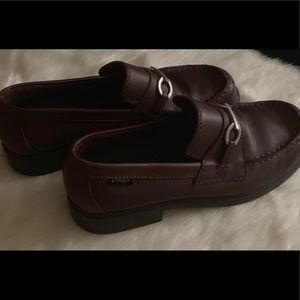 Women's brown leather loafers size 10